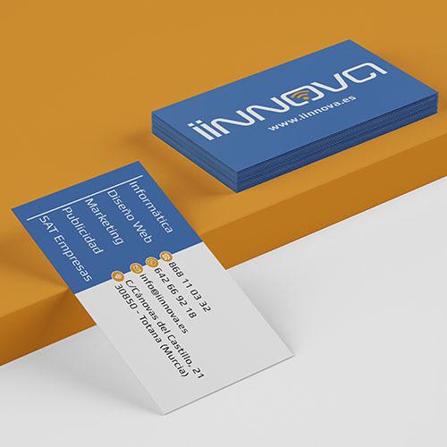 En IINNOVA diseñamos el logo y material publicitario de tu empresa.